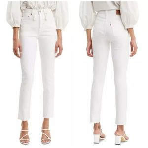 Levi's 501 S High Rise Skinny Jeans White